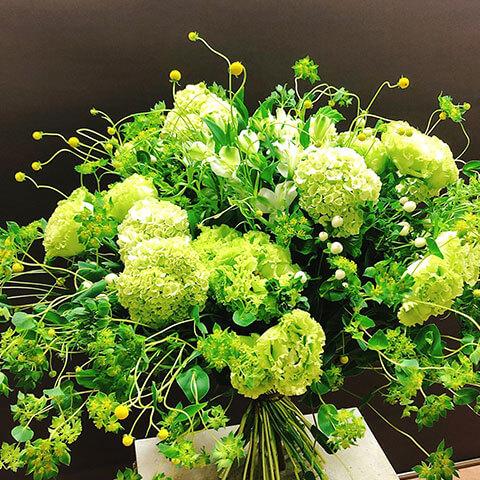 花束【ホワイト・グリーン】